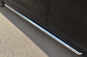 Nissan Qashqai 2014- Пороги труба d63 (вариант 1) NQQT-001788